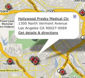 US Hospital Finder Locates the Nearest Hospital