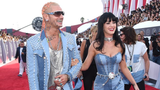 Britney Spears Approves of Katy Perry's Denim Gown