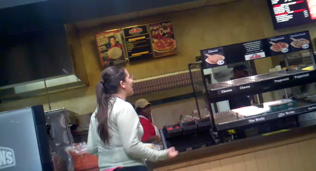 College Student Goes Crazy When She Can't Get Her Pizza