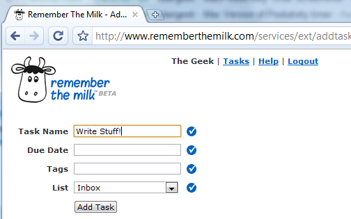 Create a Hotkey to Add Tasks to Remember the Milk Faster