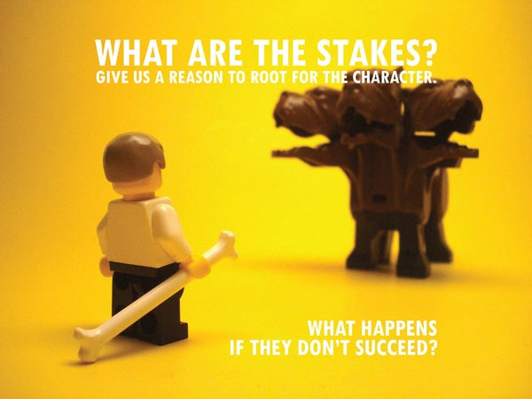 Pixar's storytelling rules illustrated in Lego