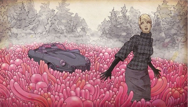 Concept Art Writing Prompt: Car trouble in the Jell-O fields