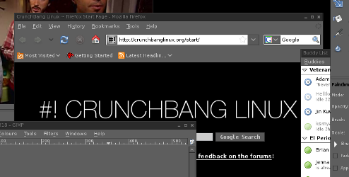 CrunchBang is a Speedy, Dark-Themed Linux Desktop