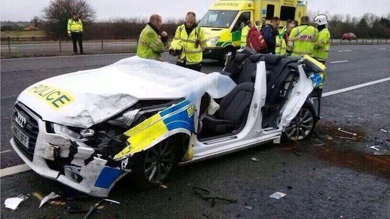 The Cops Involved In This Crash Came Away With Only Minor Injuries