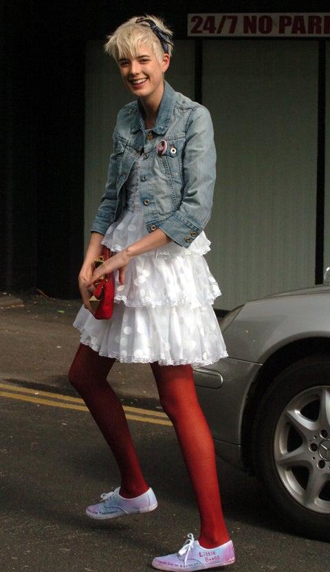 Agyness Deyn, In Yet Another Fashion-Forward Ensemble