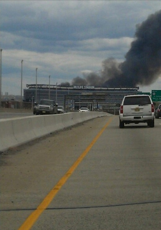 It Looks Like MetLife Stadium Is On Fire, But It's Not