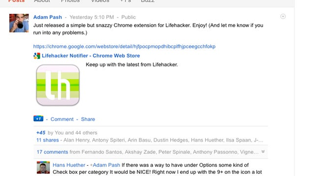 Add Lifehacker's Writers to Your Circles on Google+ For Conversation and Tips