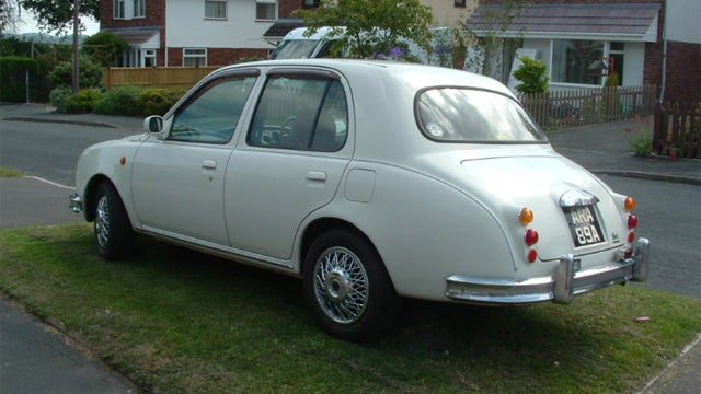 Miniature Nissan modified to look like vintage Jaguar on Ebay