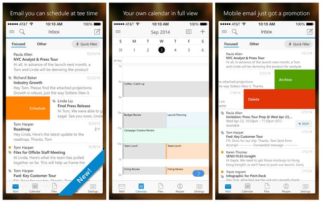 Microsft Outlook for iOS and