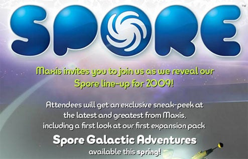 "First Spore Expansion, ""Galactic Adventures"" Due In Spring"
