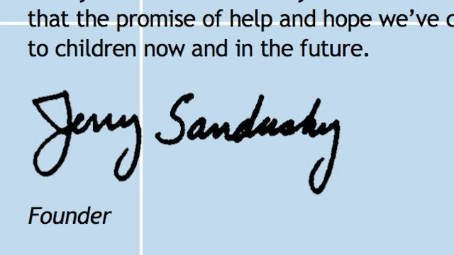 A Curated Selection Of Jerry Sandusky's Writings From The Annual Reports Of His Youth Charity