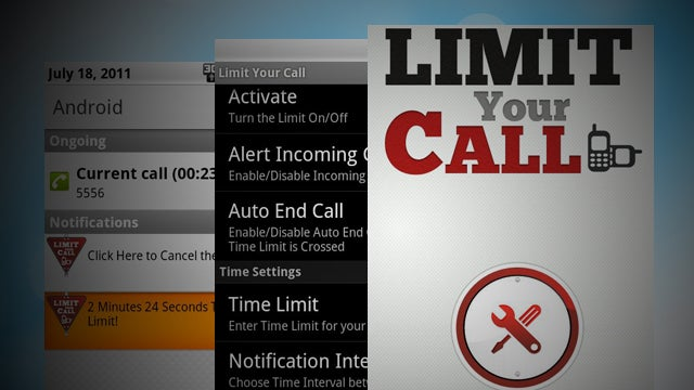 Limit Your Call for Android Automatically Ends Calls, Saves Your Wireless Minutes