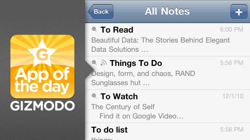 Simplenote for iPhone