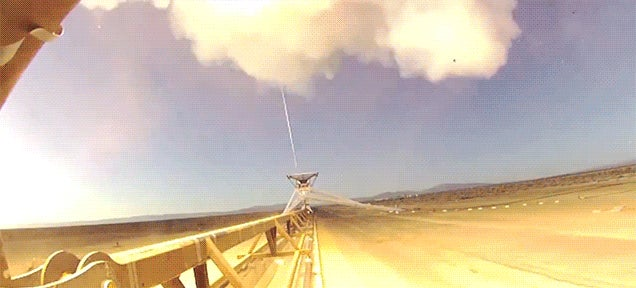 The craziest NASA test ever is this giant supersonic Goldberg machine
