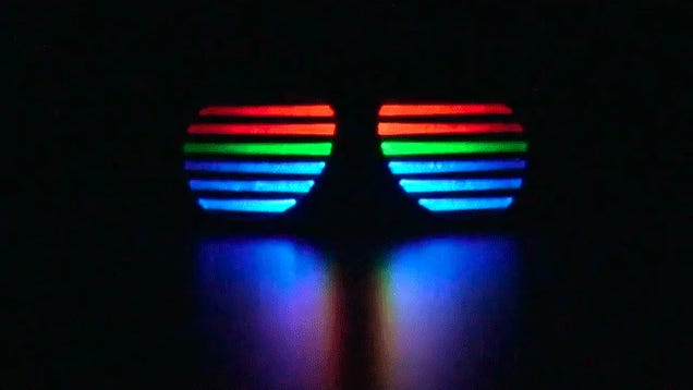 Beat-Matching Glowing Sunglasses Are Perfect For New Years Eve and Morn