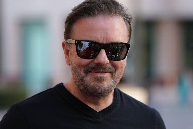 Hát persze, hogy megint Ricky Gervais reakciója a legviccesebb