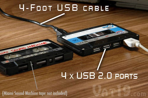 Retro Cassette Tape 4-Port USB Hub Reminds You How Old You Are