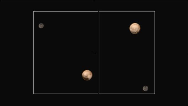 Nuevas imágenes en color de Plutón muestran sorprendentes puntos oscuros