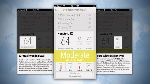 Smoggy Displays Your Current Air Quality at a Glance