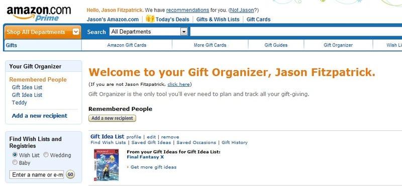 Best Gift-Tracking Tool: Amazon Gift Organizer