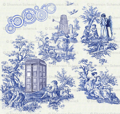 Doctor Who toile, for the most sophisticated Time Lord