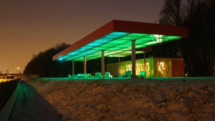 Gas Stations Transformed into Gorgeous Glowing Zombies
