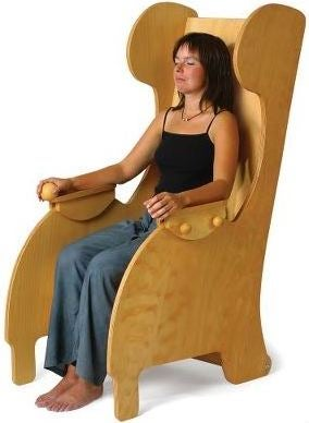 Harp Chair Massages Your Back With Horrible Music