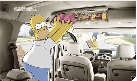 Renault Taps The Simpsons To Sell New Renault Kangoo