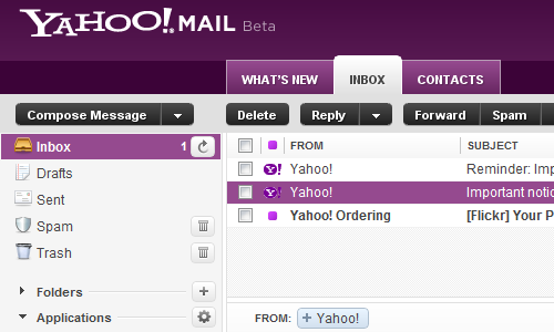 Yahoo Mail Beta Speeds Up and Improves Search