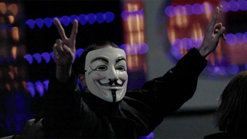 Anonymous Invades the Spanish Academy Awards Ceremony For Real