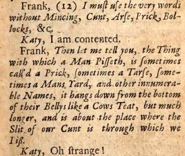 'This Misterie of Fucking': A Sex Manual From 1680