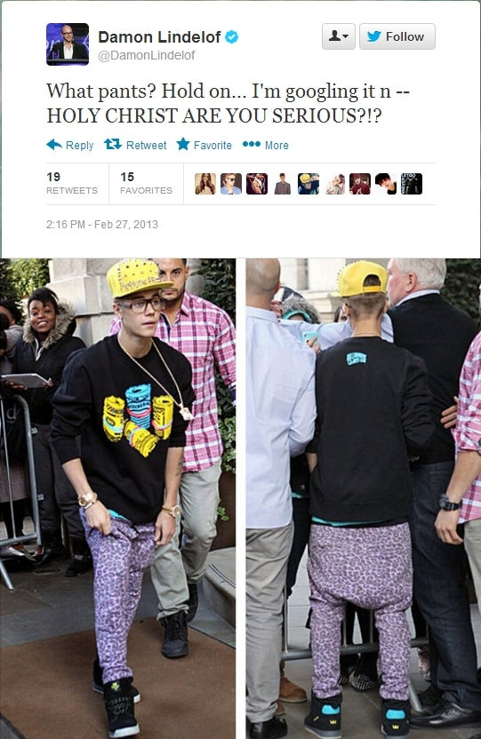 Justin Bieber Wore an Ugly Spiked Hat Yesterday and Damon Lindelof Spent Several Hours Calling Him On It