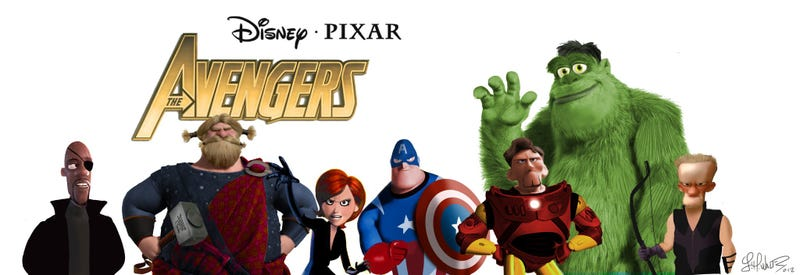 See Pixar characters cosplay as the Avengers