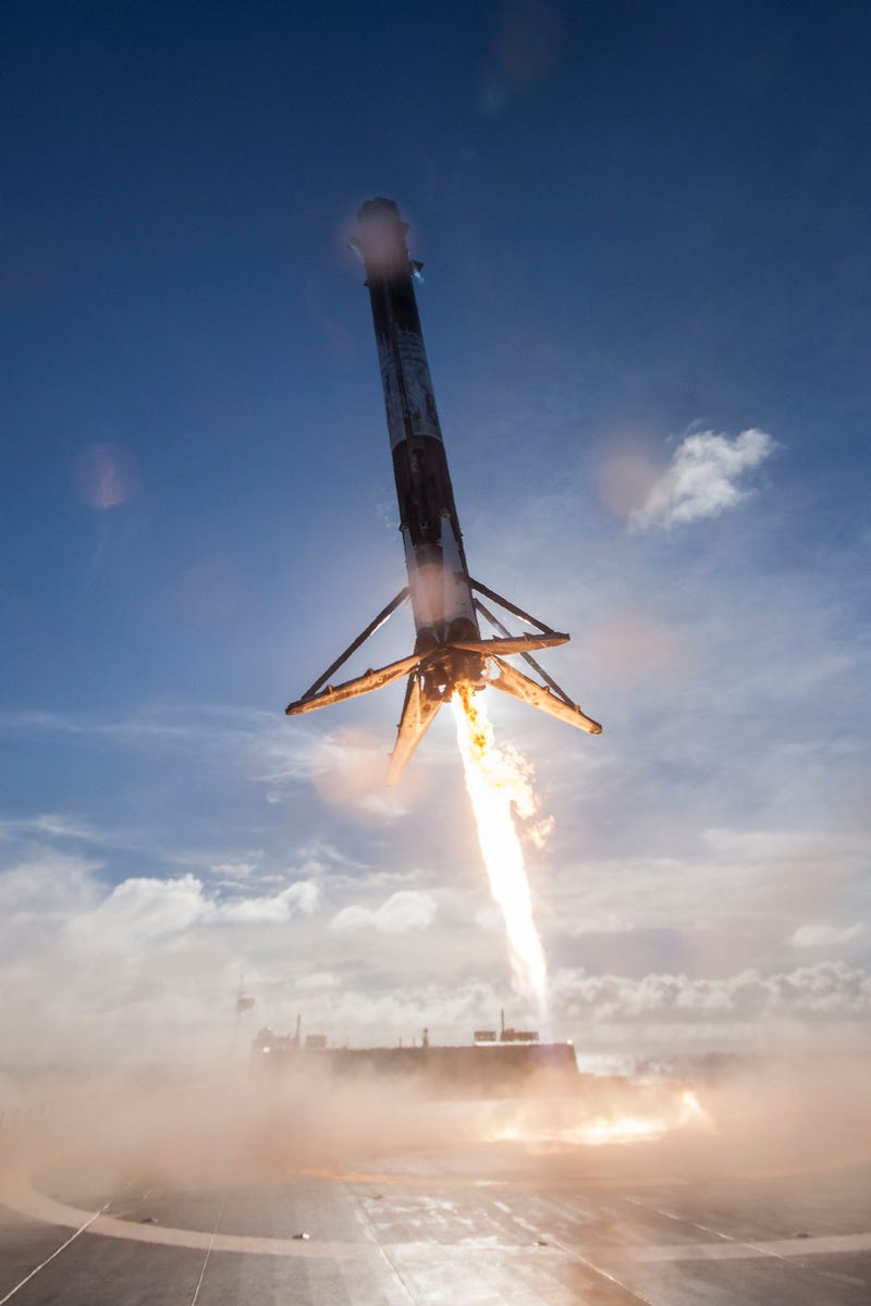 Watching a SpaceX Rocket Land on a Drone Barge Never Gets Old