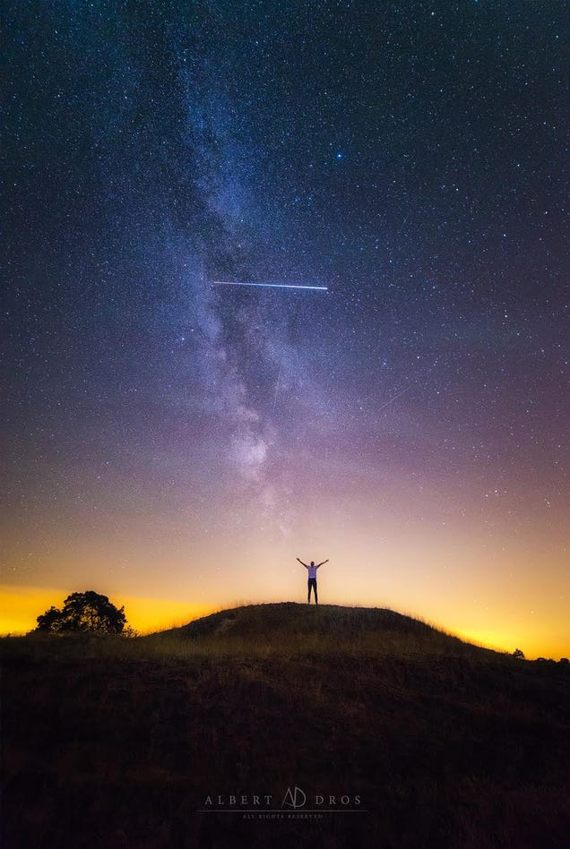 The ISS Photobombed This Photographer's Perseid Meteor Shower Shoot
