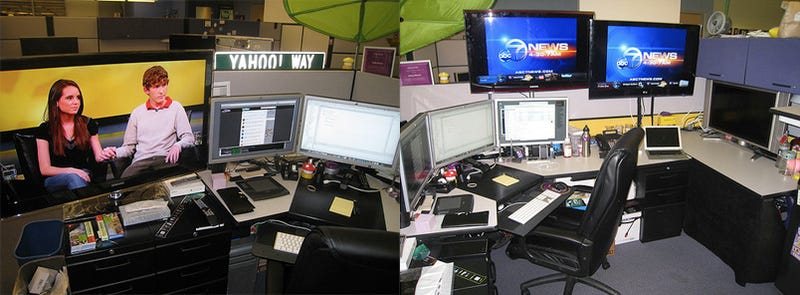 If You Become a Yahoo Engineer, You Too Can Have 7 Monitors on Your Desk