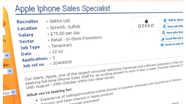 UK Job Listing Hints at August 16 Launch of the iPhone 5