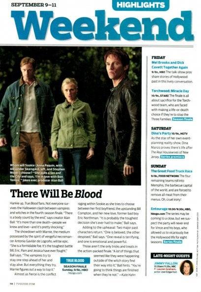 True Blood Season Finale TV Guide Scans