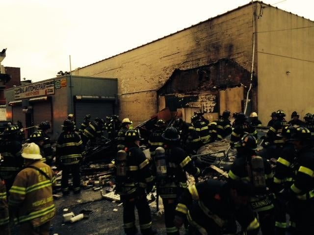 A Whole Bunch of Firefighters Respond Building Collapse In The Bronx
