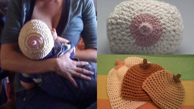 The Very Best Hat for a Breast-Feeding Baby