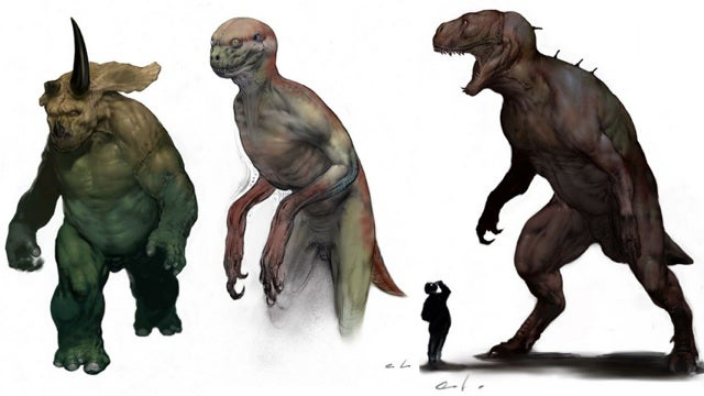 Scrapped concept art from Jurassic Park 4 shows off insane dinosaur commandos