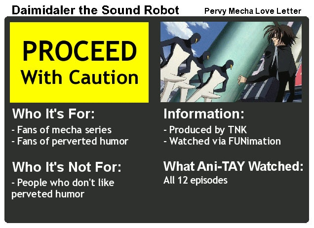 Daimidaler the Sound Robot: The Ani-TAY Review