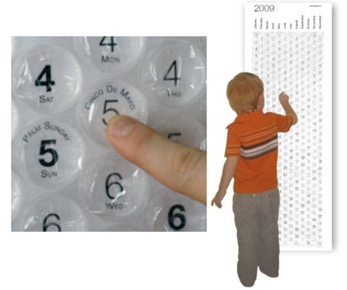 Bubblewrap Calendar Lets You Pop Your Life Away, One Day at a Time