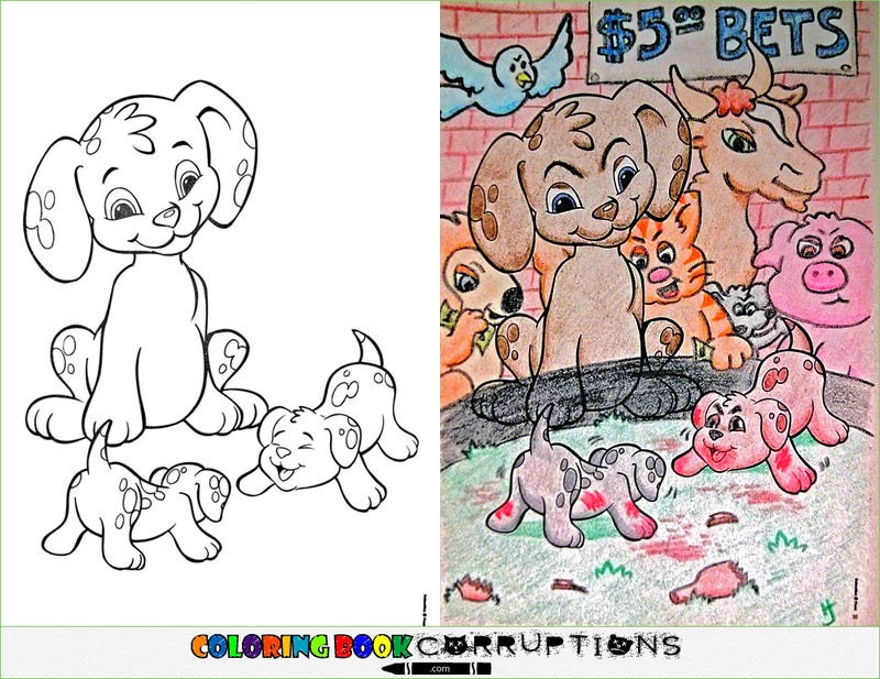 Your Childhood Coloring Books, Now With Nightmares