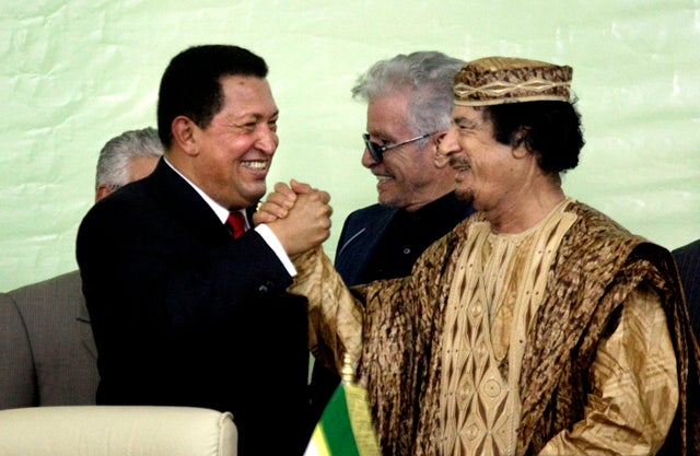 Hugo Chavez Is Moving Into Muammar Gaddafi's Tent