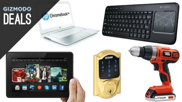 Deals: Huge Kindle Fire Discount, Smart Deadbolt, Logitech Combo