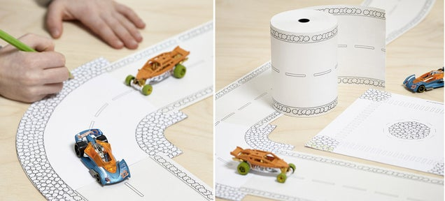 Create Instant Hot Wheels Tracks With a Roll Of Road