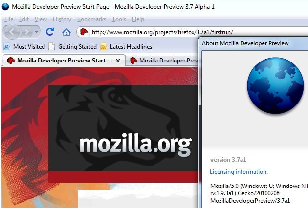 Firefox 3.7 Alpha is a Really Rough Look at Firefox 4.0
