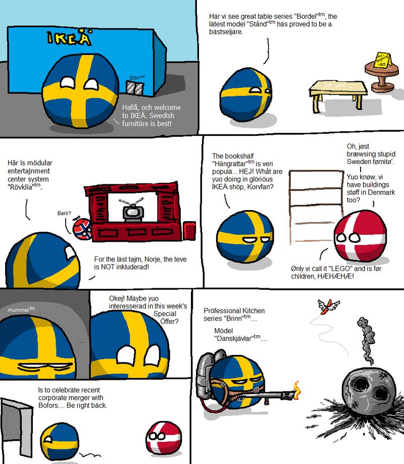 Daily Polandball: Of course it sounds Swedish...