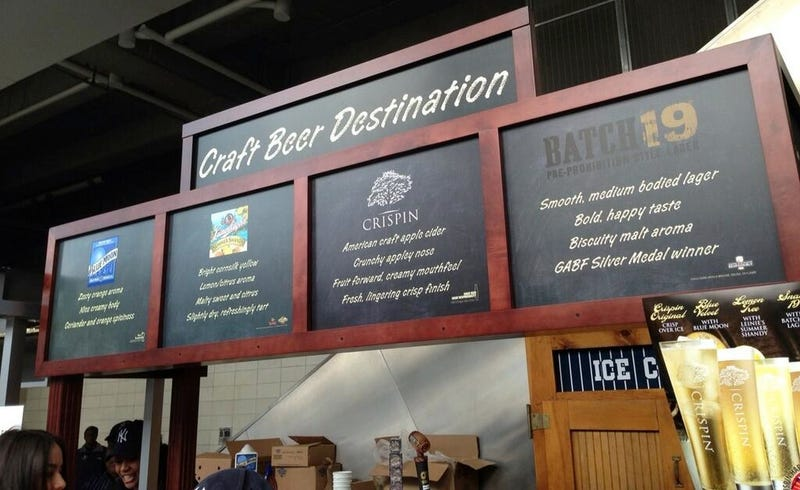 """Everything Sold At The Yankees' New """"Craft Beer"""" Stand Is Owned By MillerCoors, And Half Of Them Aren't Actually Beers"""
